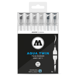 Molotow Aqua Twin Grey Set 1