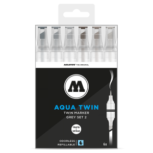 Molotow Aqua Twin Grey Set 2