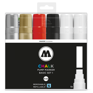 Chalk Marker 15mm Basic Set 1  molotow