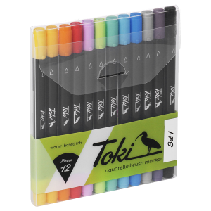 Toki Aquarelle Brush Marker Set 1