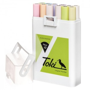 Toki Layout Markers 12 Pastel Set