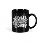 World Painted Black Tag Cup